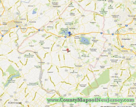 hunterdon-county-map