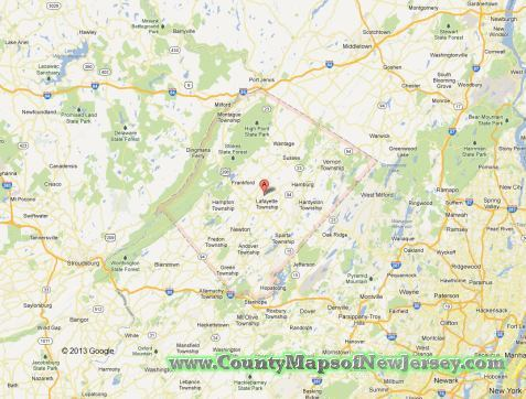 sussex-county-map